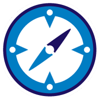 kompas_rond_wit
